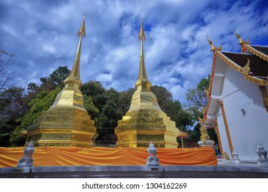 Phra That Doi Tung Temple, Chiang Rai province, Thailand. Buddhist monastery and temple of public