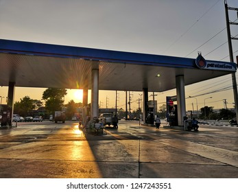 Phrae, THAILAND - November 28, 2018 : PTT Gas Station in Thailand. PTT Public Company Limited or simply PTT is a Thai state-owned SET-listed oil and gas company.