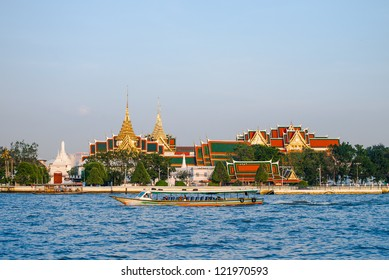 Phrakaew temple on river foreground
