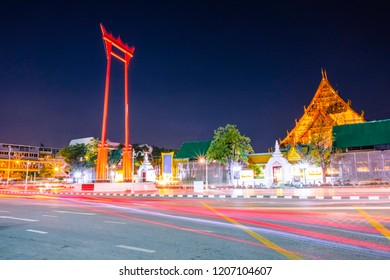 The Phram Giant Swing It is a beautiful place and a landmark of Bangkok Thailand.