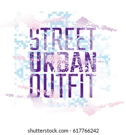 Phrase Street Urban Outfit With Halftone Pattern T Shirt Design Style Textile