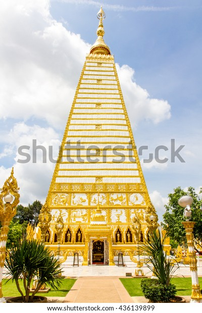 Phrathat Nong Bua temple in Ubon Ratchathani, Thailand.