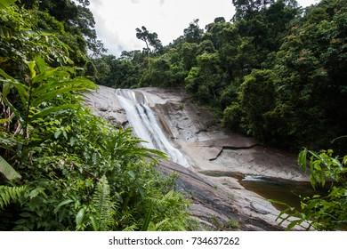 Phrom Lok Waterfall, Khao Luang National Park in Nakhon Si Thammarat, Thailand, Southeast Asia