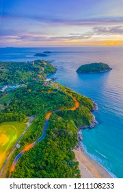 Phromthep cape is a famouse landmark and popular sunset viewpoint of Phuket Thailand.