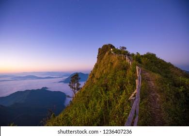 Phu chee dao peak of mountain in Chiang rai,Thailand