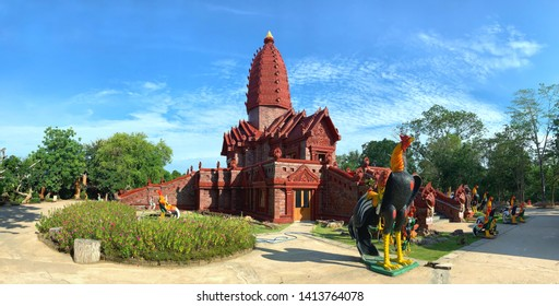 Phu sing, Sisaket Province, Thailand - May 2' 2019 : Wat Prai Pattana, Prai Pattana temple is located in Sisaket province, is one of the northeastern provinces of Thailand.
