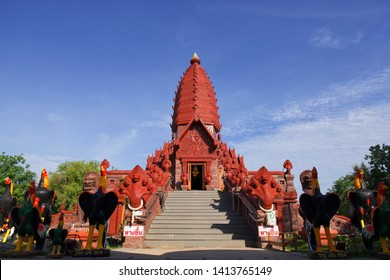 Phu sing, Sisaket Province, Thailand - June 2' 2019 : Wat Prai Pattana, Prai Pattana temple is located in Sisaket province, is one of the northeastern provinces of Thailand.