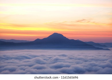 Phu Tok Mountain in Chiang Khan, Loei, Tourist attractions in Thailand.