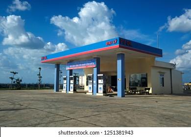 Phu Yen, Vietnam - 2018: A petrol station in Vietnam.