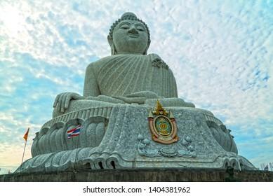Phuket Island in Thailand, Asia- May-05-2018, Big Buddha statue