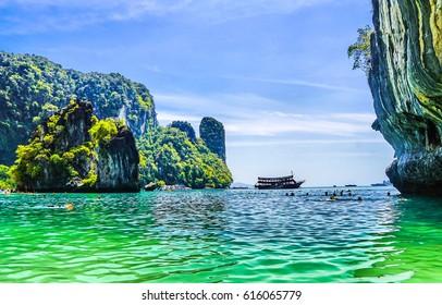 Phuket islands in Thailand sea