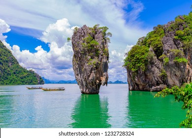 Phuket James Bond island at Phang Nga Thailand