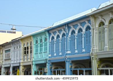 Phuket Old Town Colorful Sino Portuguese Style Building