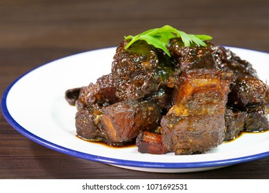 Phuket Pork fried and stews Thai call (Moo Hong) Thai food / Select focus