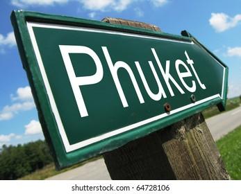 PHUKET road sign