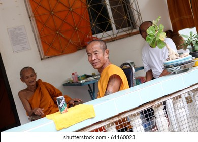 PHUKET - SEPTEMBER 17: Thais gather at the temple to celebrate monk Luang Pu Supha's 114th birthday  on September 17, 2010 in Phuket, Thailand. Many Thais believe he is the world's oldest man.