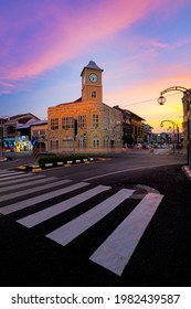 Phuket, Thailand : 2020, April 9 - Beautiful of Old Phuket Town that interest area in Phuket, Thailand.