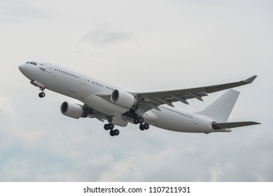 Phuket, Thailand - Apr 25, 2018. An Airbus A330-200 airplane of iFly Airlines taking-off from Phuket International Airport (HKT).