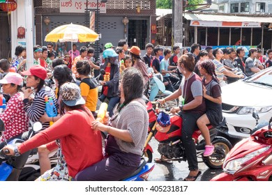 Phuket, Thailand. April 13, 2016 : Songkran fastival day in Phuket City