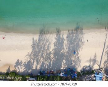 Phuket, Thailand - CIRCA March 2016 aerial of phuket beach