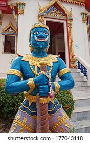 PHUKET, THAILAND - FEBRUARY 12, 2013: Buddhist temple in the south of Thailand