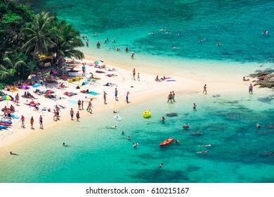 PHUKET, THAILAND - FEBRUARY 13, 2017 : Yanui Beach is a small beach near Promthep Cape, Phuket island, Thailand.