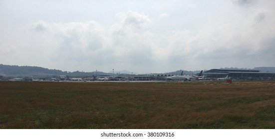 PHUKET, THAILAND - February 21, 2016 Phuket International Airport is an airport serving Phuket Province of Thailand. It is the second busiest airport in Thailand