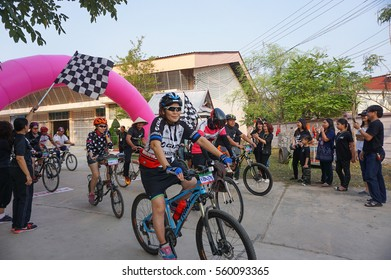 Phuket, Thailand -  January  15: Cyclists from different teams competing. In the Thailand championship. on January 15, 2016 in Phuket, Thailand