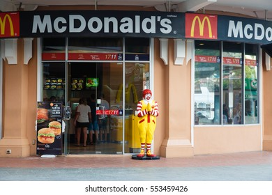 Phuket, Thailand - January 6, 2017: McDonaldâ??s