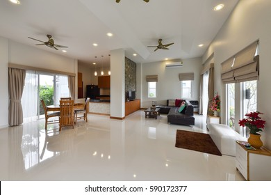 PHUKET, THAILAND - JANUARY18 : Interior Design of  a luxury living room in home on JANUARY 18, 2017, in Phuket Thailand.