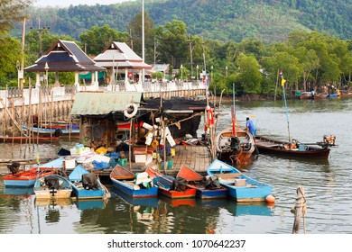 PHUKET, THAILAND - MARCH 01, 2011: Fishing longtail boats in Thailand