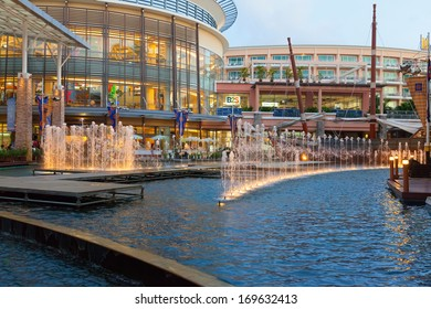 PHUKET, THAILAND - MARCH 26: Jungceylon shopping mall in Patong beach on MARCH 26, 2012 in Phuket, Thailand. Jungceylon shopping and entertainment with fountains largest shopping mall in Patong.