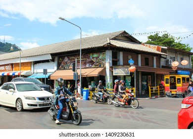 PHUKET, THAILAND - MAY 19, 2019 : Old buildings in Phuket Old Town.
