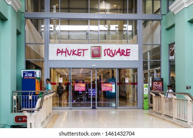 Phuket, Thailand - May 2nd 2018: Entrance to Phuket Square in the Jung Ceylon shopping centre, Patong. This is the areas major shopping mall.