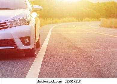 PHUKET, THAILAND - NOVEMBER 24 :  Toyota Corolla Altis parking on the asphalt road in Phuket on November 24, 2016. The official dealer of Toyota, who is the top market share for commercial car.