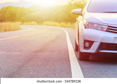 PHUKET, THAILAND - NOVEMBER 24 : Toyota Corolla Altis parking on the asphalt road in Phuket on November 24, 2016. The official dealer of Toyota, who is the top market share for commercial car.