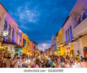 "PHUKET, THAILAND - ""Phuket Walking Street (Lard Yai)"" Sunday Walking Street Market. Great shopping, great food ,great cafes and shops too in Phuket Old Town. on January 28, 2018."
