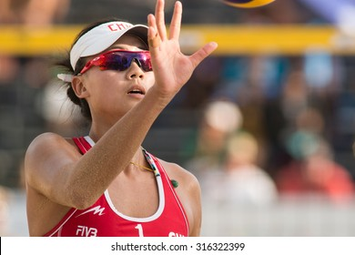 PHUKET, THAILAND-NOVEMBER 2: Chen Xue of China during the semi final match on Day 4 of Phuket Open on November 2, 2013 at Karon Beach in Phuket, Thailand