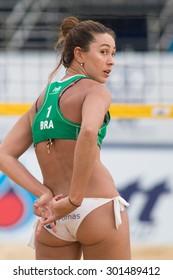 PHUKET, THAILAND-NOVEMBER 2: Maria Clara Salgado Rufino of Brazil in action during match on Day 4 of Phuket Open on November 2, 2013 at Karon Beach in Phuket, Thailand