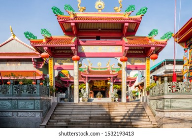 Phuket Town, Thailand - January 21st 2019: The Jui Tui Chinese shrine. The many temples reflect the Chinese heritage of the area.