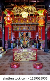Phuket Town, Thailand - May 3, 2015: Inside Jao Mae Ya Nang Shrine.