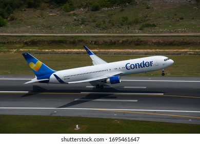 Phuket/Thailand - April 6 ,2020 : Condor airline special flight  bring passenger back to Europe due to COVID-19 situation insouth east asia