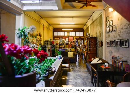 Phuket Thailand 01 May 2017 Interior Decoration Vintage Stock Photo