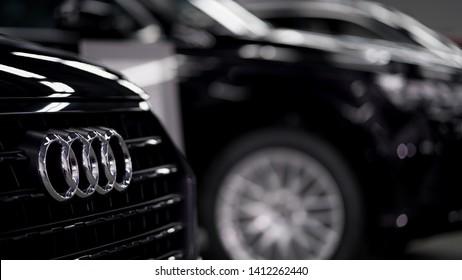 Phuket,Thailand-May 30,2019 :Audi cars in garage of Audi Phuket Showroom.