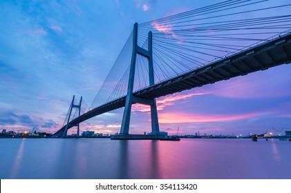 PhuMy Bridge over Sunset, Ho Chi Minh City, Vietnam