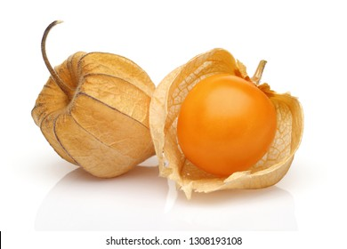 Physalis fruit or golden berry isolated on white background