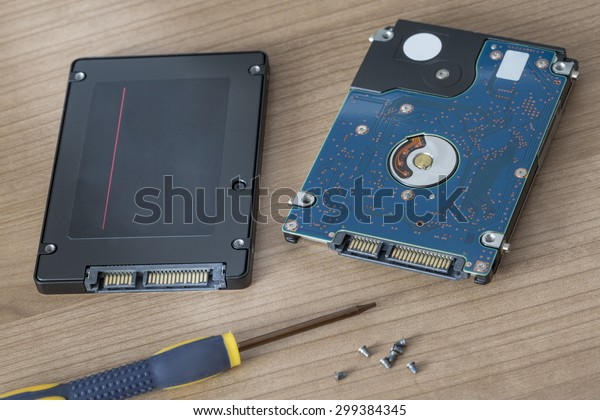 Physical Hard Disc drive being replaced by a solid state flash drive