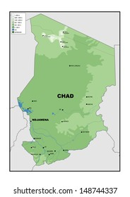 Chad Map Images Stock Photos Vectors Shutterstock