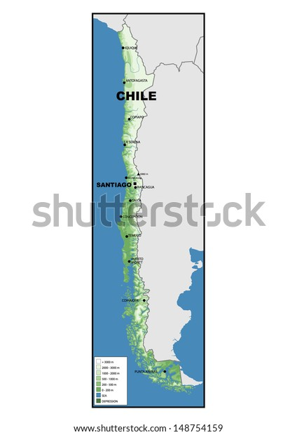 Physical Map Chile Stock Photo (Edit Now) 148754159 on chile volcano erupts, chile's map, south america map, chile rivers map, chile elevation map, chile precipitation map, chile culture, chile population density map, chile history, chile flag, chile rodeo, chile world map, chile climate zone map, chile geography, chile landscape, chile gold map, chile economic map, chile beaches, chile food,