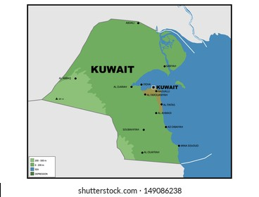 Simple Map Kuwait Stock Illustration 149086271 Shutterstock